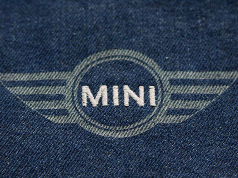 Laser-Stick-Kombination auf Jeans